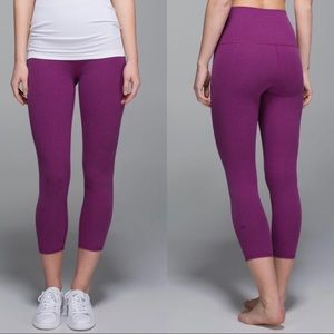 Lululemon Wunder Under Crop 2 *Cotton Roll Down